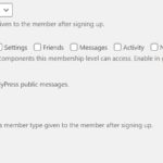 Component Membership Level Restriction